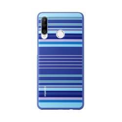 Huawei etui do P30 Lite plecki dekoracyjne TPU niebieskie linie